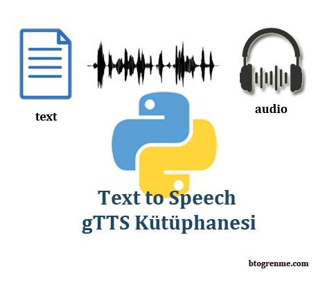 Python gTTS Kütüphanesi